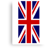 British Union Jack Flag, 1;2 UK, United Kingdom, Portrait, Pure & simple  Canvas Print