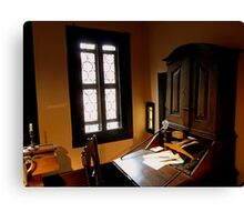 Imagine him sitting at this desk! Canvas Print