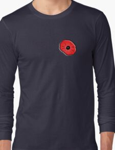 Poppy, Remembrance Day, Armistice Day, War, Soldier, on Black Long Sleeve T-Shirt