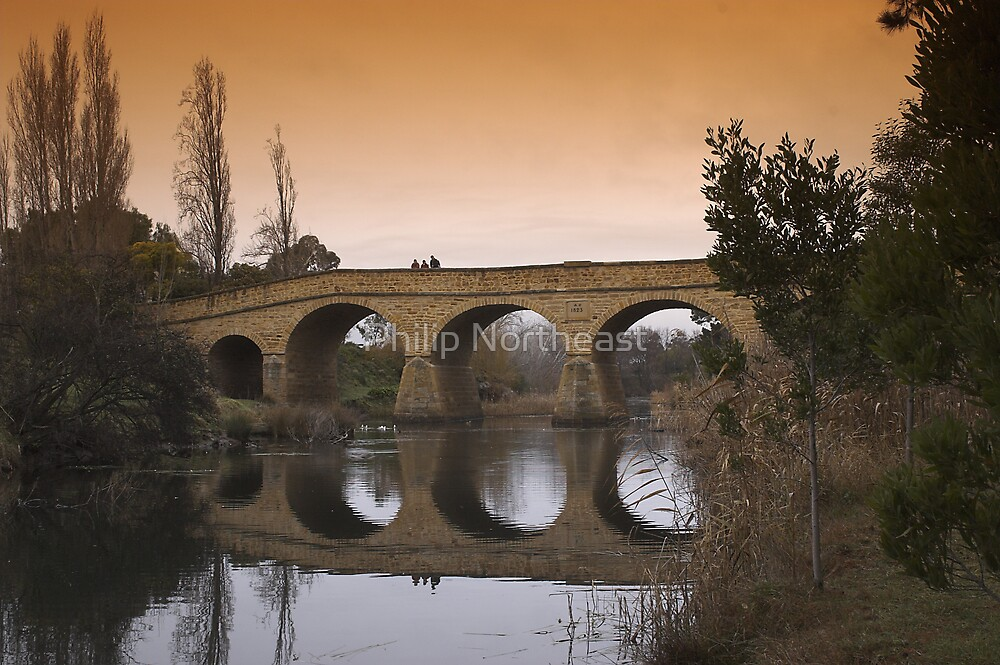 Richmond bridge in winter. by Philip Northeast