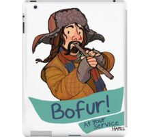 Bofur at Your Service iPad Case/Skin