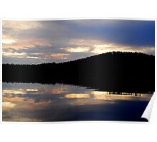 Sunset on the Lake 4 Poster