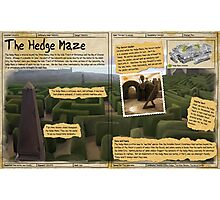 Practical Visitor's Guide to the Labyrinth - The Hedge Maze Photographic Print
