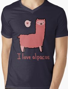 I Love Alpacas Mens V-Neck T-Shirt