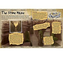 Practical Visitor's Guide to the Labyrinth - The Stone Maze Photographic Print