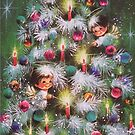 Vintage Christmas Card #4 by Tracy Wazny