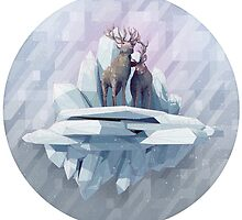 Winter Reindeers  by HailOfWhales