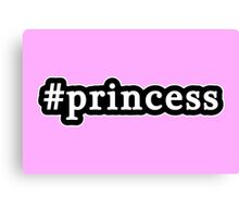 Princess - Hashtag - Black & White Canvas Print