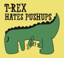 T-Rex Hates Pushups Kids Clothes
