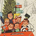 Vintage Christmas Card #5 by Tracy Faught