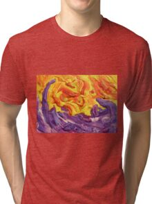 """""""Brightscape"""" original abstract landscape by Laura Tozer Tri-blend T-Shirt"""