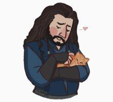 Thorin and Kitten by HattieHedgehog