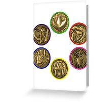 Power Coins Greeting Card