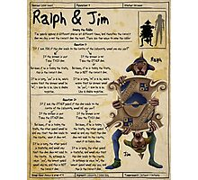Practical Visitor's Guide to the Labyrinth - Ralph and Jim Photographic Print