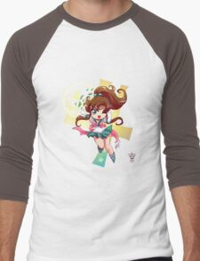 Chibi Super Sailor Jupiter Men's Baseball ¾ T-Shirt
