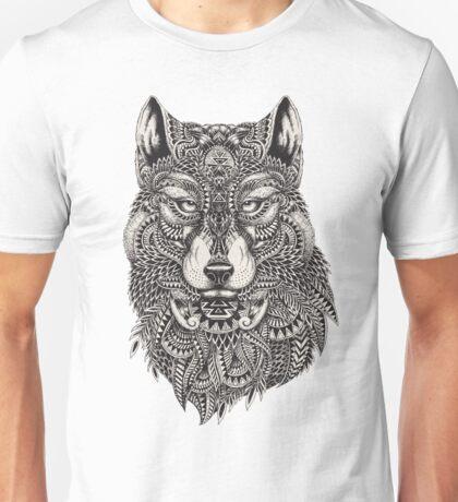 Tribal Wolf Illustration Unisex T-Shirt
