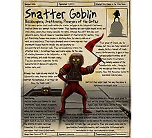Practical Visitor's Guide to the Labyrinth - Snatter Goblin Photographic Print