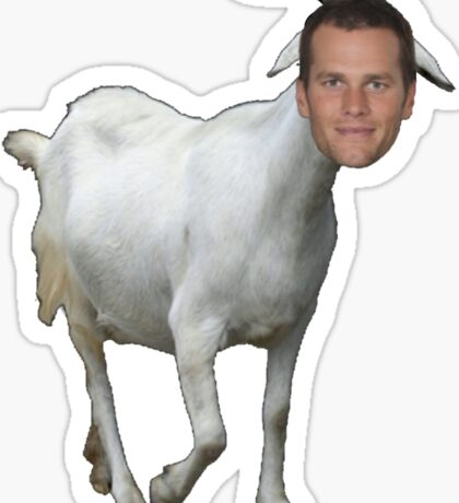 Tom Brady GOAT Sticker