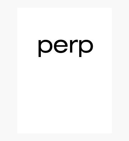 perp Photographic Print