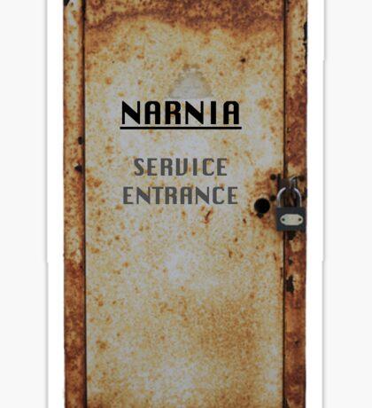 Narnia - Service Entrance Sticker