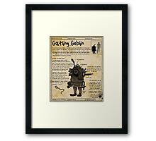 Practical Visitor's Guide to the Labyrinth - Gatling Goblin Framed Print