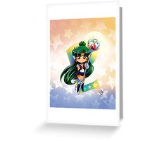 Chibi Super Sailor Pluto Greeting Card