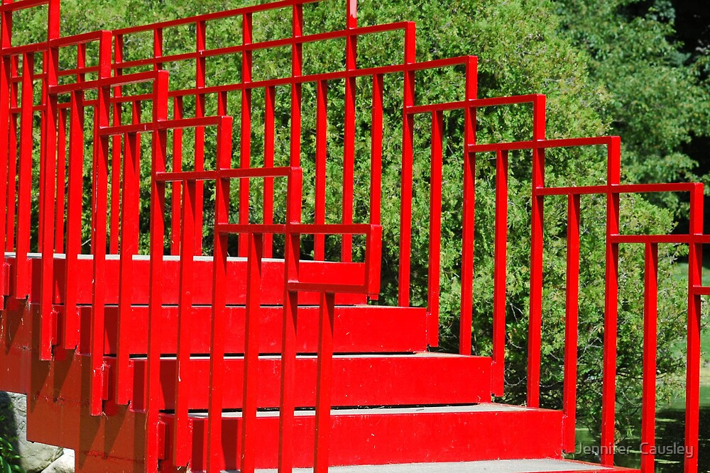 Red Steps by Jennifer  Causley