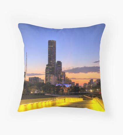 Melbourne at Dusk Throw Pillow
