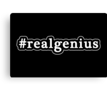 Real Genius - Hashtag - Black & White Canvas Print