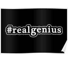 Real Genius - Hashtag - Black & White Poster