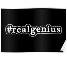 Real Genius - Hashtag - Black & White Poster