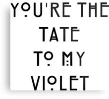 You're the Tate to my Violet Metal Print