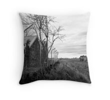Tagging Along Throw Pillow