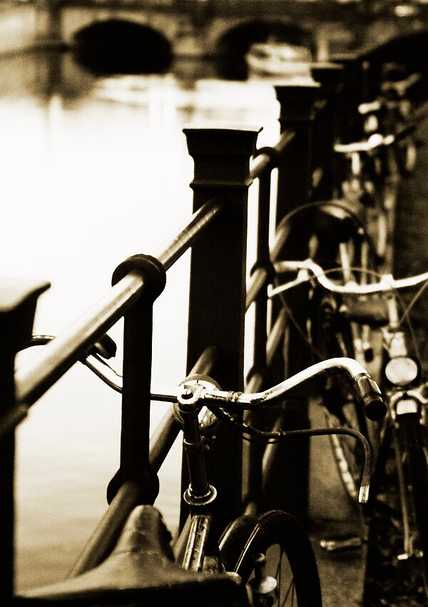 Bikes by the canal by Brett Squires
