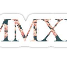 MMXII-floral Sticker