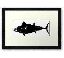Tuna Fish Silhouette (Black) Framed Print