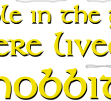Hobbit - Gold Sticker