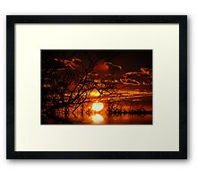 summer sunrealism Framed Print