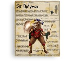 Practical Visitor's Guide to the Labyrinth - Sir Didymus Metal Print