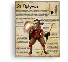 Practical Visitor's Guide to the Labyrinth - Sir Didymus Canvas Print