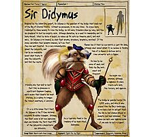 Practical Visitor's Guide to the Labyrinth - Sir Didymus Photographic Print