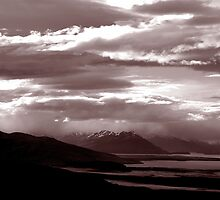 Sun sets in Patagonia by Stephen Colquitt