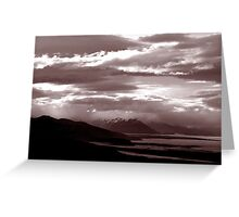 Sun sets in Patagonia Greeting Card