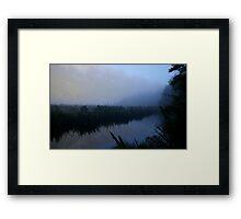 Mirror lakes Framed Print