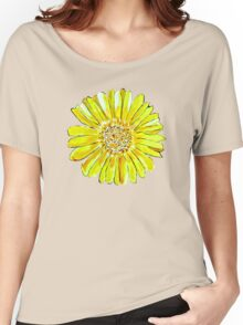 Bright and big yellow flower Women's Relaxed Fit T-Shirt