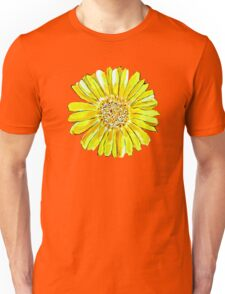 Bright and big yellow flower Unisex T-Shirt