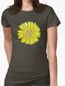 Bright and big yellow flower Womens Fitted T-Shirt