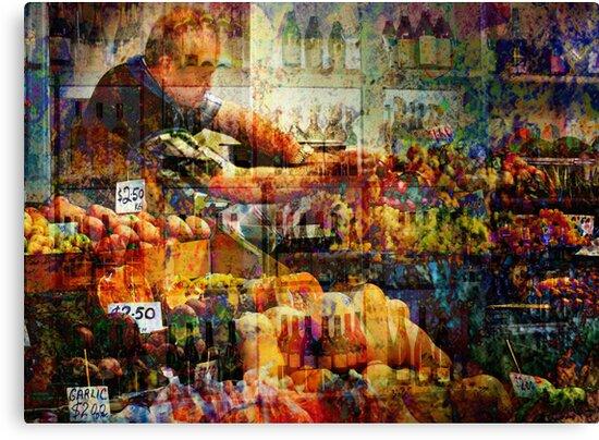 At the market by Sabine Spiesser