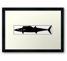 Wahoo Fish Silhouette (Black) Framed Print