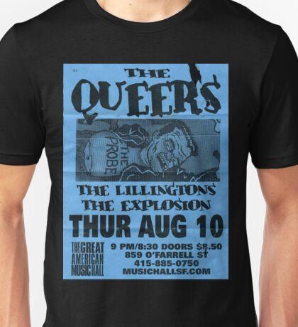 the queers hardcore punk show flyer Unisex T-Shirt
